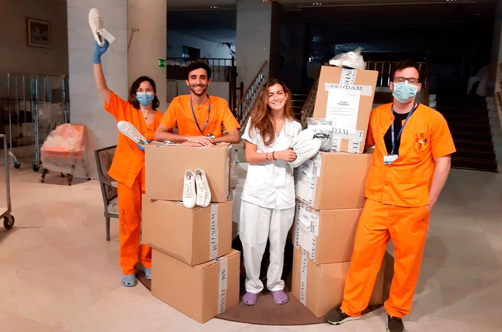 TENDAM dona más de 1 millón de euros en prendas de ropa y gestiona la llegada de material sanitario, por valor superior a 1 millón de euros