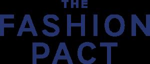 Logo de the fashion pact para el cuidado del medio ambiente