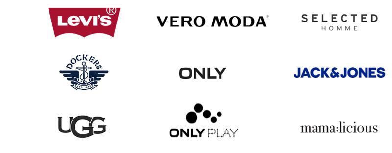 Logos de Levis, Vero Moda, Dockers, Ugg y varias marcas más en Market Place de Tendam